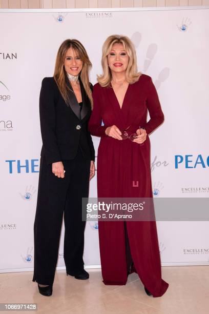 Guest and Amanda Lear attend The Children For Peace Gala at Hotel Principe di Savoia on November 30 2018 in Milan Italy