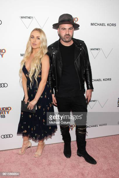 Guest and Andrew Goldstein attend the Whitney Museum Celebrates The 2018 Annual Gala And Studio Party at The Whitney Museum of American Art on May 22...