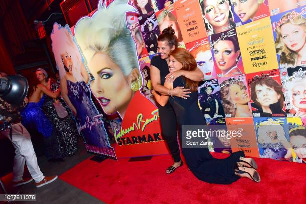 A guest and Angie Everhart attend STARMAKER Book Launch By Roger And Mauricio Padilha at Public Hotel on September 5 2018 in New York City