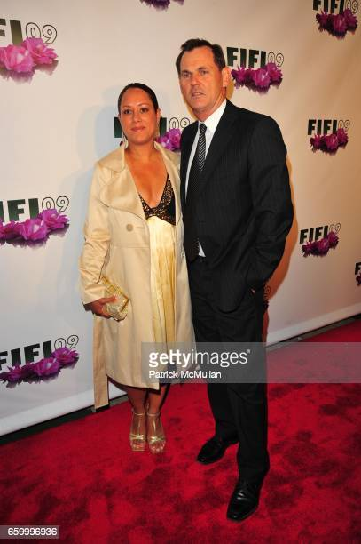 Guest and Bernd Beetz attend The Fragrance Foundation 2009 FIFI Awards at Downtown Armory NYC on May 27 2009