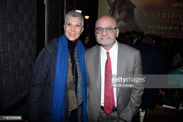 Guest and Bharat Bhise attend The Wing Hosts The World Premiere Of Roadside Attractions' The Warrior Queen Of Jhansi at Metrograph on November 13...