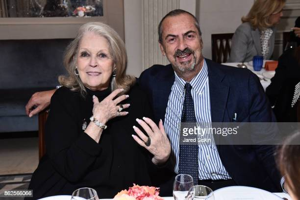 Guest and Carlo Traglio attend QUEST VHERNIER Host Luncheon at MAJORELLE at Majorelle on October 17 2017 in New York City