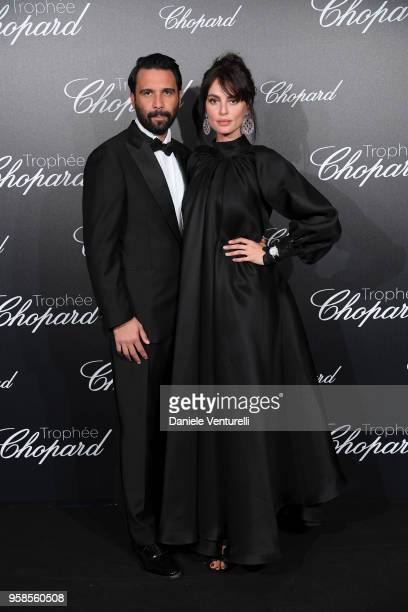 A guest and Catrinel Marlon attend the Chopard Trophy during the 71st annual Cannes Film Festival at Martinez Hotel on May 14 2018 in Cannes France