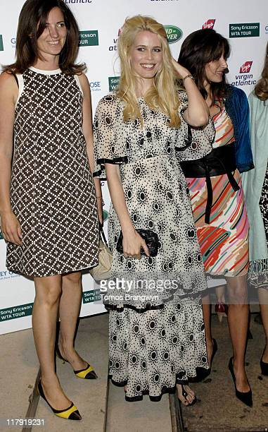 Guest and Claudia Schiffer during WTA – Pre Wimbledon Party Outside Arrivals at The Roof Gardens in London Great Britain