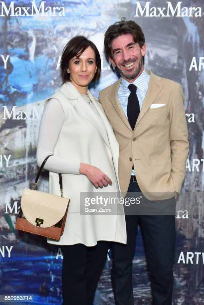 Guest and Cristian Notari attend the 2017 ARTWALK NY Benefiting Coalition for the Homeless at Spring Studios on November 29 2017 in New York City