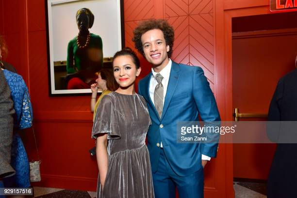 Guest and Damon J Gillespie attend the after party for Rise hosted by NBC The Cinema Society at Legacy Records on March 7 2018 in New York City