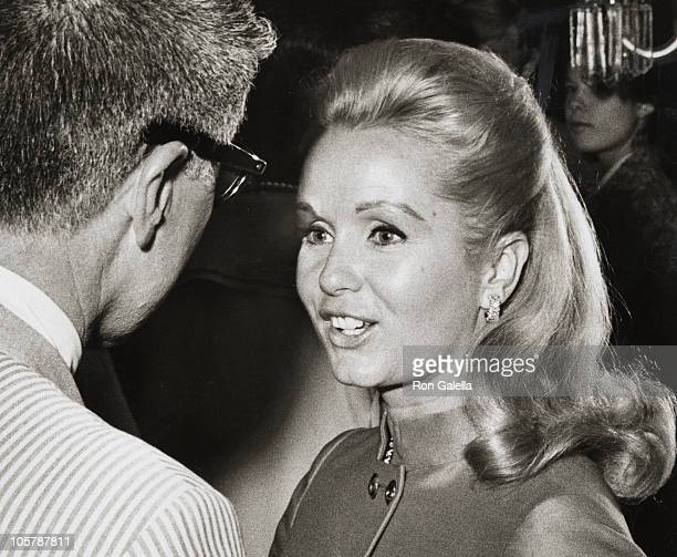 guest and Debbie Reynolds during Thalians Party May 26 1968 at Beverly Hills in Beverly Hills California United States