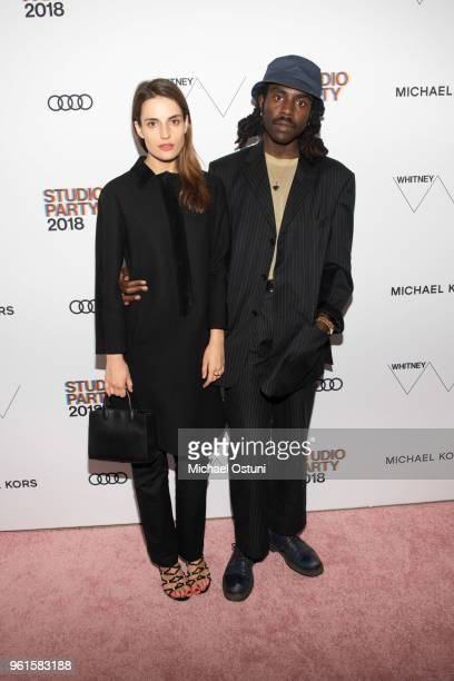 Guest and Dev Hynes attend the Whitney Museum Celebrates The 2018 Annual Gala And Studio Party at The Whitney Museum of American Art on May 22 2018...