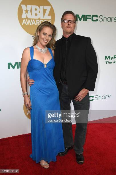 Guest and Dick Chibbles attend the 2018 XBIZ Awards on January 18 2018 in Los Angeles California