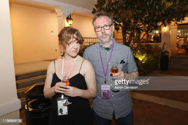 A guest and director Paul Harrill are seen at the 2019 Sarasota Film Festival on April 12 2019 in Sarasota Florida