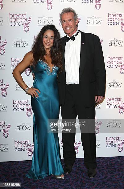 Guest and Dr Hilary Jones arriving at Breast Cancer Care's London fashion show at the Grosvenor House A JW Marriott Hotelon October 3 2012 in London...
