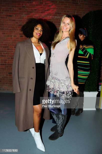 Guest and Elena Kurnosova attend Barbie's 60th Anniversary at 505 Broadway on March 8 2019 in New York City