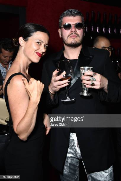 Guest and Eli Mizrahi attend The Dom Perignon Vintage Trinity Launch Party at 17 Irving Place on June 22, 2017 in New York City.