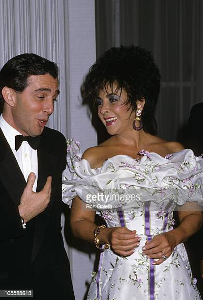 Guest and Elizabeth Taylor during 16th Annual Fragrance Foundations Recognition Awards at Waldorf Hotel in New York City New York United States