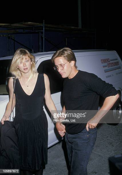 guest and Emilio Estevez during 'Colors' Screening April 131980 at Director's Guild Theater in Los Angeles California United States