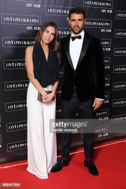 A guest and Francisco Porcella attend Intimissimi On ice 2017 on October 6 2017 in Verona Italy