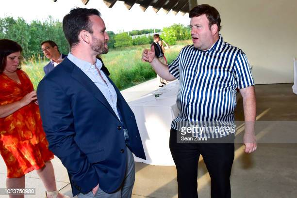 Guest and Frank Luntz attend the 14th Annual Prostate Cancer Foundation's Gala In The Hamptons With A Special Performance By John Fogerty at the...