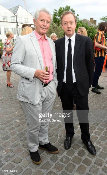 Guest and Geordie Greig attend British Vogue editor Alexandra Shulman's leaving party at Dock Kitchen on June 22 2017 in London England