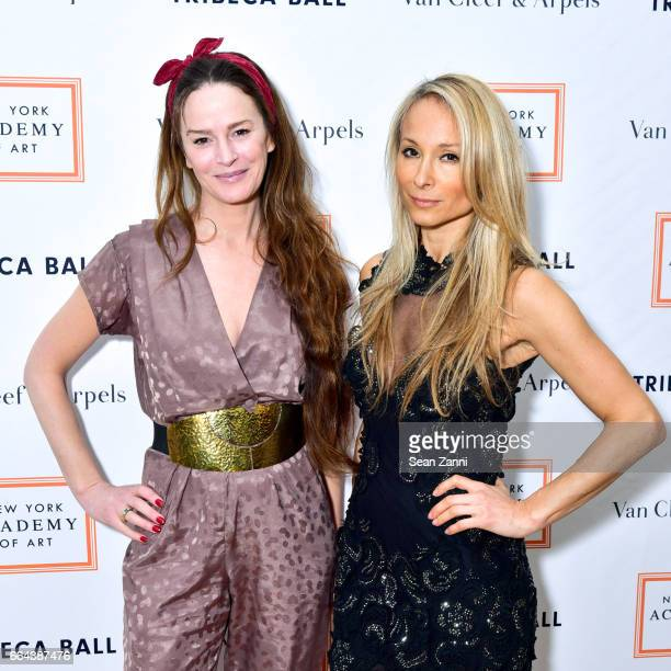 Guest and Indira Cesarine attend the New York Academy of Art Tribeca Ball Honoring Will Cotton at New York Academy of Art on April 3 2017 in New York...