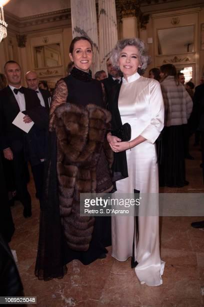 Guest and Irene Pivetti attends the Prima Alla Scala at Teatro Alla Scala on December 7 2018 in Milan Italy