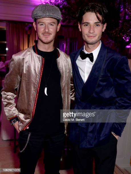 Guest and Jack Brett Anderson attend the Kimpton Hotels Restaurants a housewarming party to celebrate its arrival in the UK at Kimpton Fitzroy London...