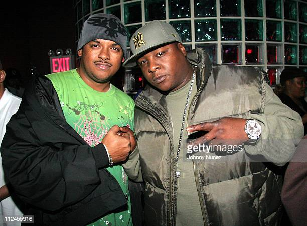 Guest and Jadakiss during Sheek Louch Album Release Party in New York City November 8 2005 at Quo in New York New York United States