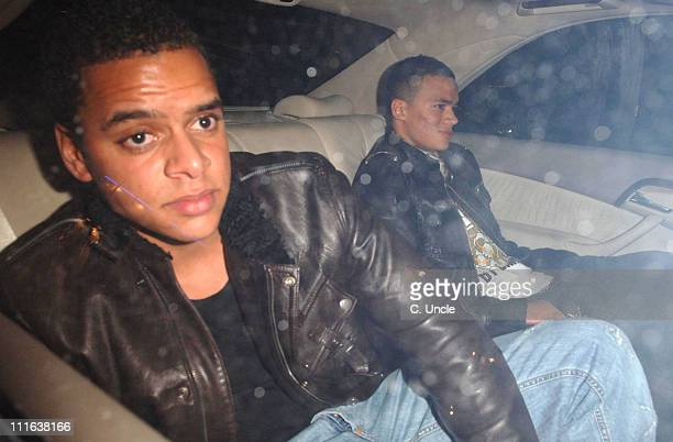 Guest and Jermaine Jenas during Footballers Sighting at MoVida in London February 23 2006 at MoVida in London Great Britain