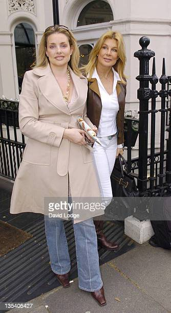Guest and Jilly Johnson during Giles Deacon and Dima Rashid VIP Designer Lunch Outside Arrivals March 27 2006 at Baglioni Hotel in London Great...