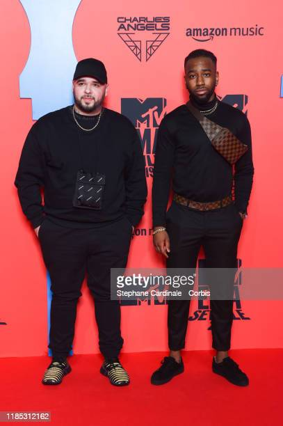 Guest and Jireel attend the MTV EMAs 2019 at FIBES Conference and Exhibition Centre on November 03, 2019 in Seville, Spain.