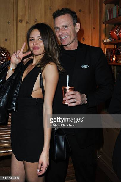 Guest and Josh Taekman attend Dana Brunetti's Pre Oscar party hosted by Steve Shaw at the private residence of Jonas Tahlin CEO of Absolut Elyx on...