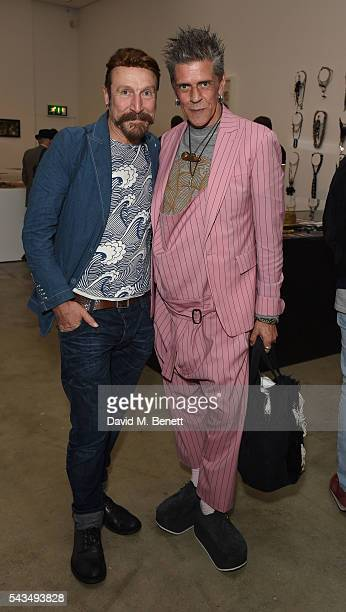 Guest and Judy Blame attend a VIP private view of Judy Blame Never Again and Artistic Difference at the ICA on June 28 2016 in London England