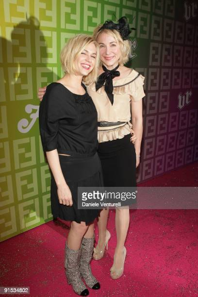 Guest and Julie Depardieu attend Fendi 'O' party For Pixie Lott at the VIP ROOM Theater on October 6 2009 in Paris France