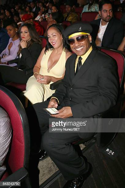 e2201ad0 Guest and Kangol Kid attend the 2016 BET Awards at the Microsoft Theater on  June 26