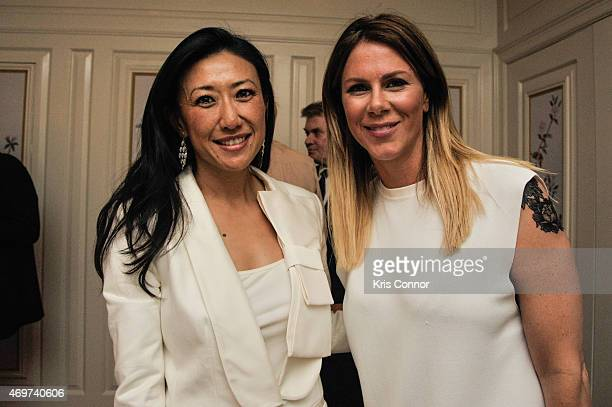 Guest and Kate Glassman Bennett attend a reception to honor Giovanna Gray Lockhart as the new Glamour Washington DC Editor at a private residence on...