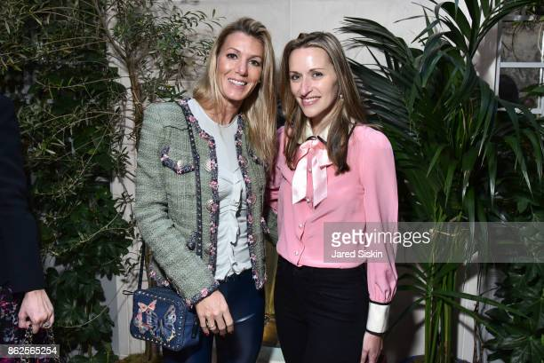 Guest and Lara MeilandShaw attend QUEST VHERNIER Host Luncheon at MAJORELLE at Majorelle on October 17 2017 in New York City