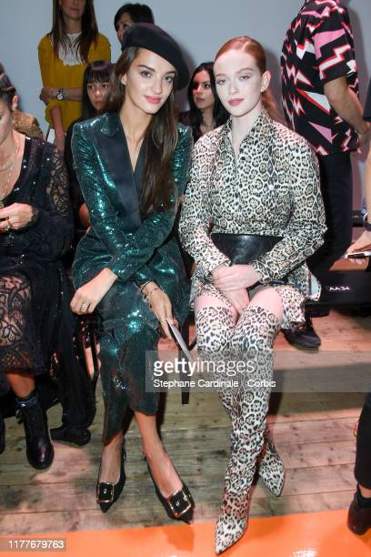 Guest and Larsen Thompson attend the Elie Saab Womenswear Spring/Summer 2020 show as part of Paris Fashion Week on September 28 2019 in Paris France