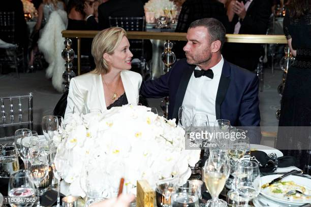 Guest and Liev Schreiber attend Kristy Hinze Clark 40th Birthday Celebration at The Rainbow Room on October 11 2019 in New York City