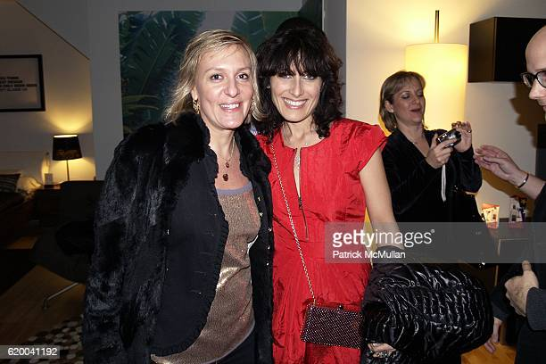 Guest and Lisa Edelstein attend KolDesign and BoConcept's annual Holiday party at BoConcept Store on December 16 2008 in New York City