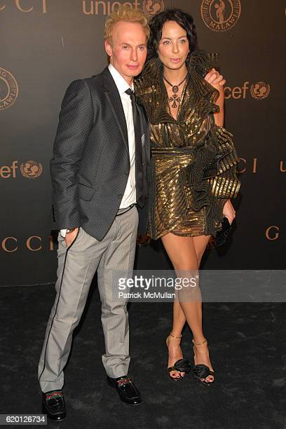 Guest and Lisa Maria Falcone attend GUCCI and MADONNA host A NIGHT TO BENEFIT RAISING MALAWI AND UNICEF at the United Nations on February 6 2008 in...