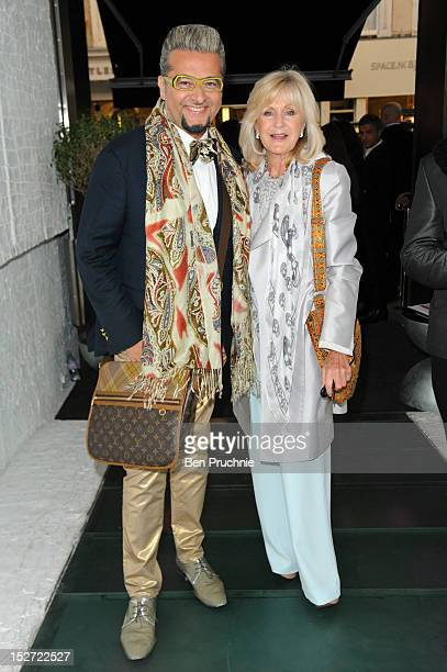 Guest and Liz Brewer attends the launch party of Smallbone Kelly Hoppen at The Collection on September 24 2012 in London England