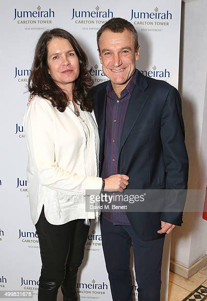 Guest and Mats Wilander at the Champions Tennis players' party at Jumeirah Carlton Tower on December 3 2015 in London England