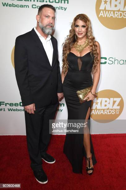 Guest and Mercedes Carrera attend the 2018 XBIZ Awards on January 18 2018 in Los Angeles California