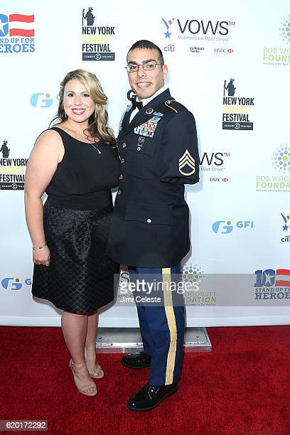 Guest and Michael Kacer attend The New York Comedy Festival and The Bob Woodruff Foundation Present the 10th Annual Stand Up for Heroes Event at The...