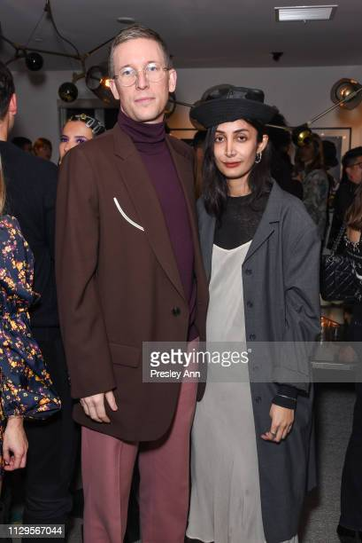 Guest and Nadia Sarwar attend Oliver Peoples x Tasya van Ree Celebrates Who is Oliver Exhibition at LECLAIREUR on February 13 2019 in Los Angeles...