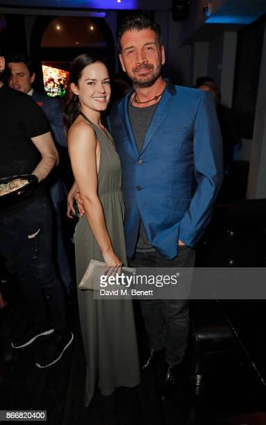 Guest and Nick Knowles attend the UK Premiere after party for 'Rise of the Footsoldier 3 The Pat Tate Story' at Ruby Blue on October 26 2017 in...