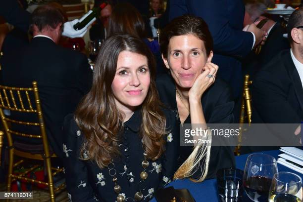 Guest and Poi Blanc Ludivine attend Sidney Toledano and Peter Marino being honored at French Institute Alliance Francaise's Trophee des Arts Gala at...
