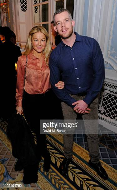 Guest and Russell Tovey attend the Gala Night after party for 9 To 5 The Musical at The Savoy Hotel on February 17 2019 in London England