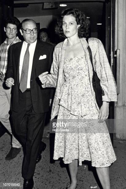 guest and Sigourney Weaver during Sigourney Weaver Sighting at The Promenade Theater in New York City June 201982 at The Promenade Theatre in New...
