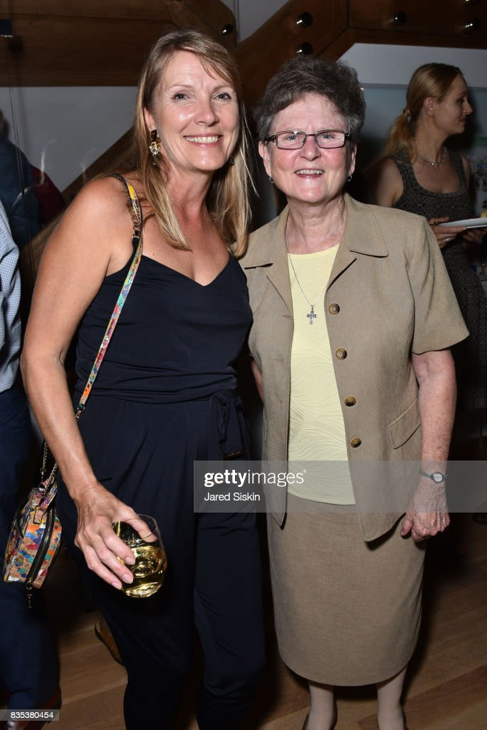 Guest and Sister Tesa Fitzgerald attend ARTrageous Gala + Art Auction benefitting Hour Children at a Private Residence on August 18, 2017 in Southampton, New York.