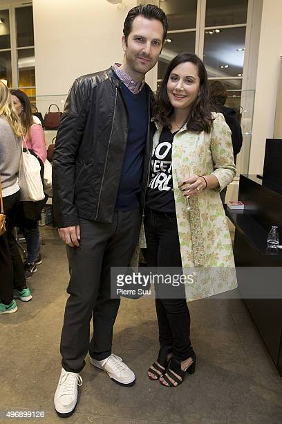 Guest and Stacy Igel attend the 'Preciously Paris Bag' created to benefit Naked Heart Foundation Launch Cocktail at Colette on November 12 2015 in...